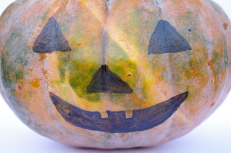 Pumpkin decoration for halloween Stock Photo