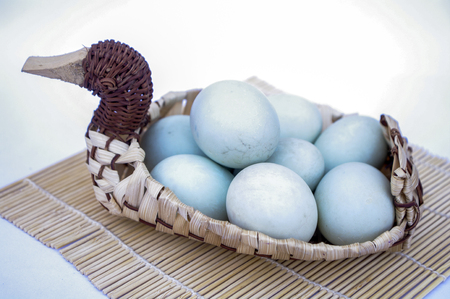 Salted Duck Egg Stock Photo