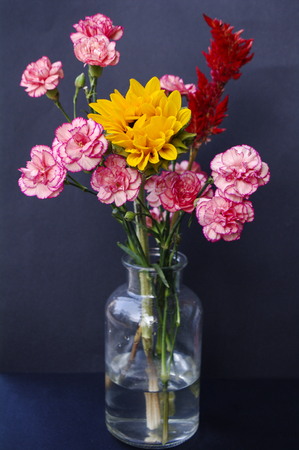 Sunflower and carnations bouquet
