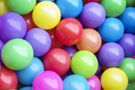 Children plastic toy balls Stock Photo