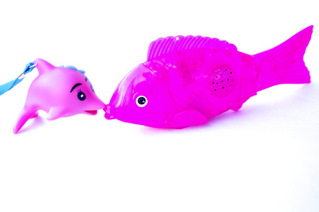 Electric acoustooptic simulation fish and dolphin toy Stock Photo
