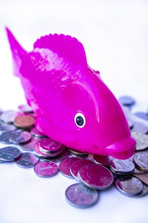 Electric simulation fish toy with coins