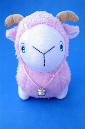 Goat toy doll Stock Photo