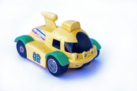 Kids car toy on white background Stock Photo