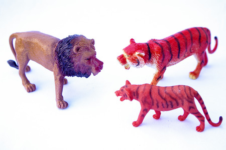 Solid imitation animal toy for children on white background