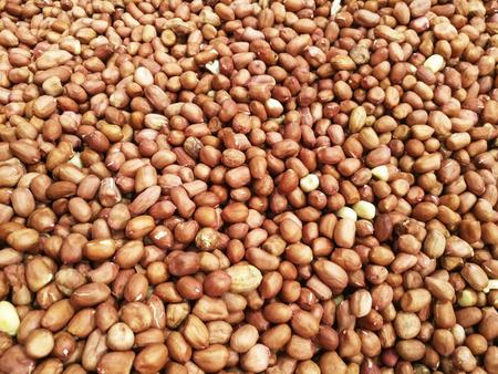 longevity: peanuts close up view Stock Photo