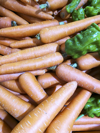 chafing dish: carrot close up view