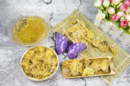 Golden chrysanthemum tea