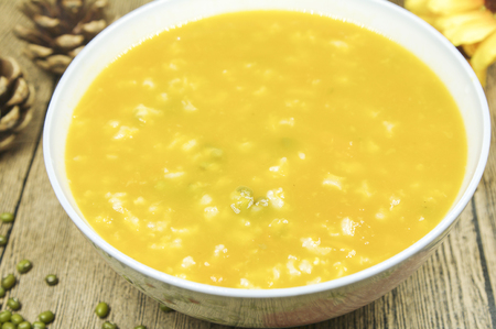 Mung bean pumpkin congee