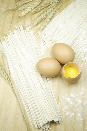 Egg noodle 스톡 콘텐츠