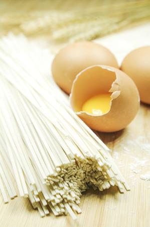 Egg noodle Banque d'images