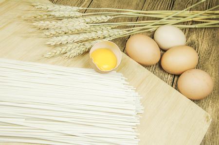 Egg noodle Stock Photo