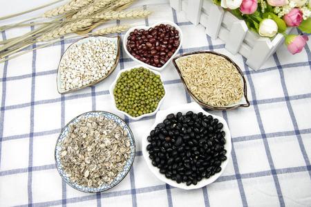 Coarse cereals combination 스톡 콘텐츠