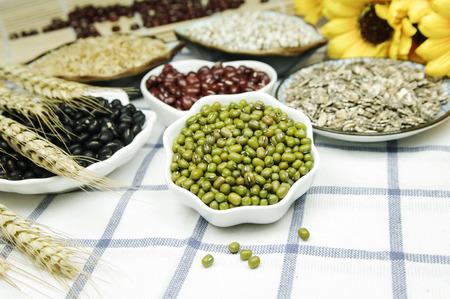 Coarse cereals combination Stock Photo