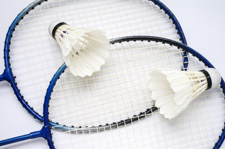 Badminton racket and ball