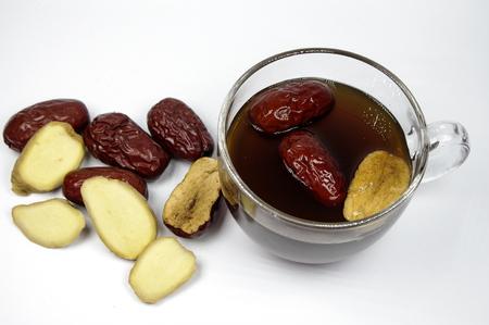 Nutritious brown sugar ginger jujube tea