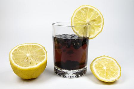 Sweet and sour lemon black tea 版權商用圖片