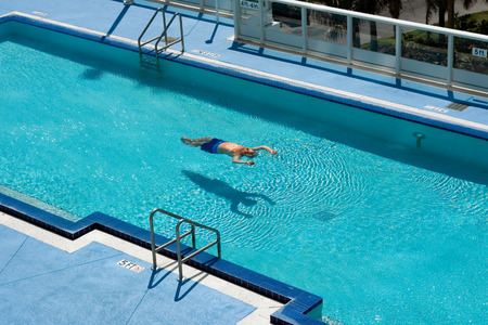 Relaxing swimming pool Stock Photo
