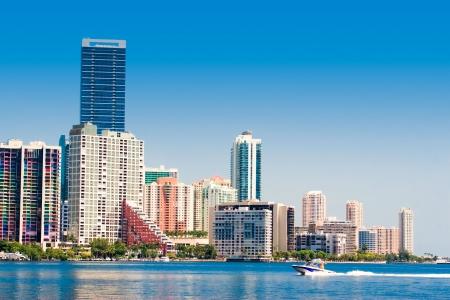 Miami skyline view from Key Biscayne