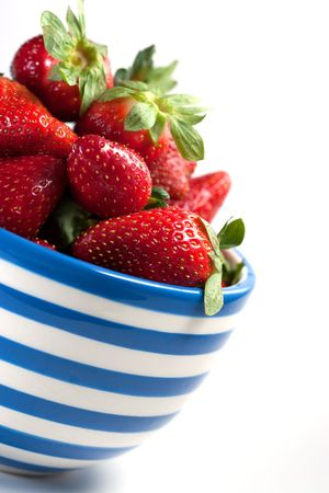 A bowl of delicious fresh strawberries