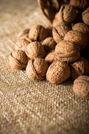 Series of organic and fresh walnuts