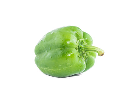 bell peper: Sweet bell pepper isolated on white background cutout