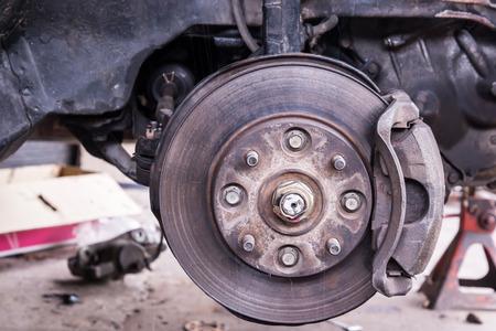 Maintenance Of Sedan Car Suspension Shock Absorber And Brake