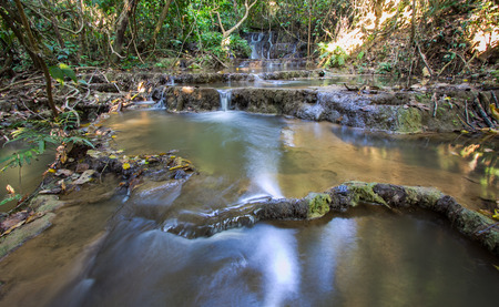 out of doors: limestone waterfall in Northern Thailand