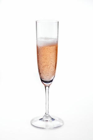 Rose sparkling wine photo