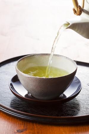 sencha tea: Japanese green tea Stock Photo