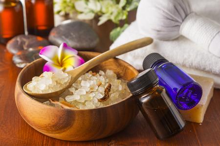 salt: Spa Bath Salt image Stock Photo
