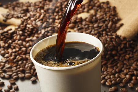 break from work: Coffee image