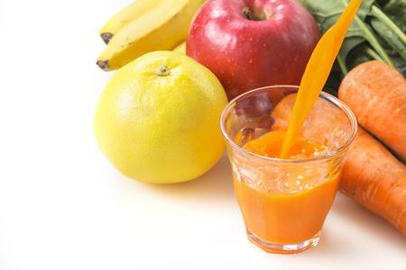 野菜とフルーツのミックス ジュース 写真素材