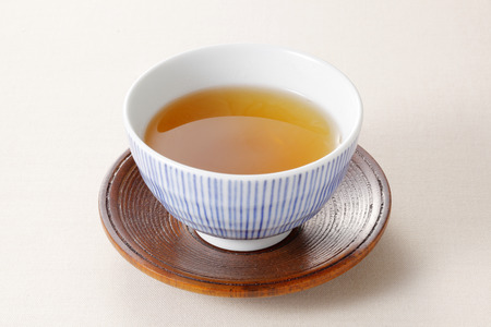 Japanese roasted green tea Standard-Bild