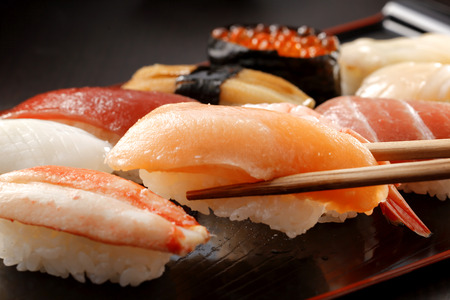 cangrejo: Sushi comida japonesa