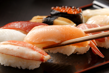 japanese background: Sushi Japanese food