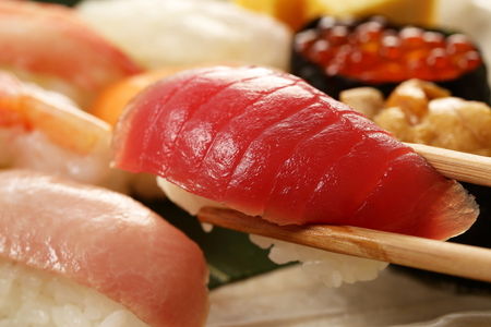 japanese sake: Sushi