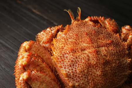 japanese cookery: Hair crab Stock Photo