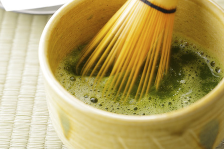 Japanese maccha green tea