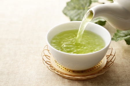 Japanese green tea Standard-Bild