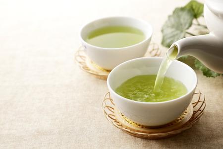 Japanse groene thee Stockfoto