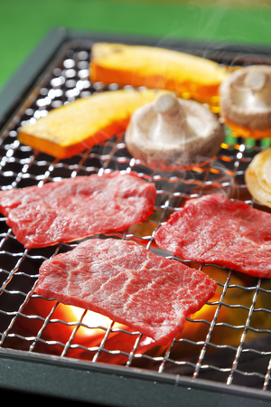 Yakiniku Japanese barbecue Stock Photo