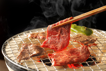 yakiniku: Yakiniku Japanese barbecue Stock Photo