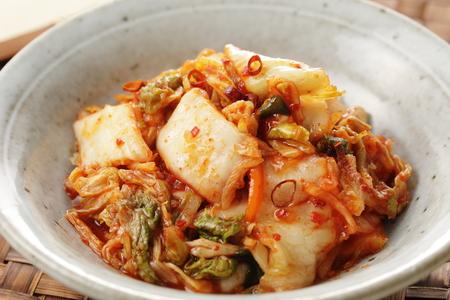 KIMUCHI Korean pickles Stock Photo