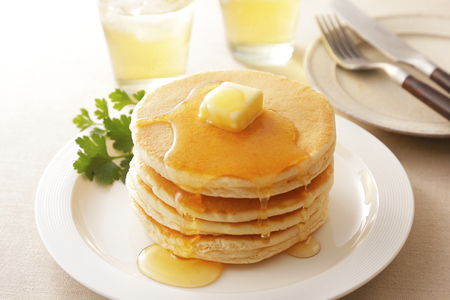Pancake for breakfast 스톡 콘텐츠