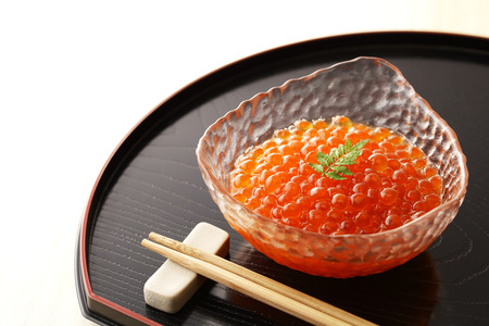 Ikura, japanese soy sauce with the salmon roe