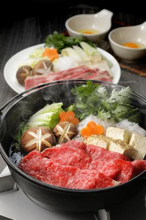 Japanese cuisine Sukiyaki Stockfoto