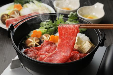 Japanese cuisine Sukiyaki Foto de archivo