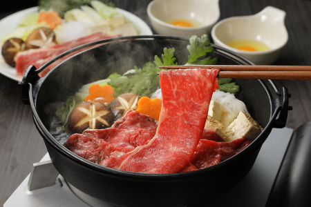 Japanese cuisine Sukiyaki Stock Photo