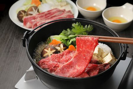 Japanese cuisine Sukiyaki Banco de Imagens